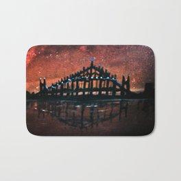 City Aflame (Bridge and city scape) Bath Mat