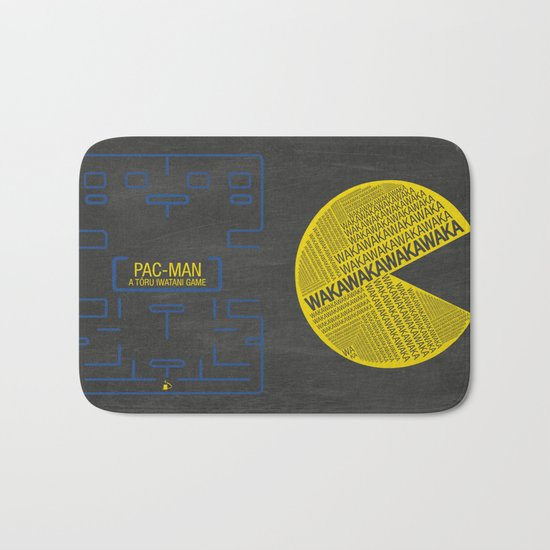 Pac-Man Typography Bath Mat