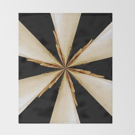 Black, White and Gold Star Throw Blanket