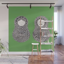 A Couple - Green Wall Mural