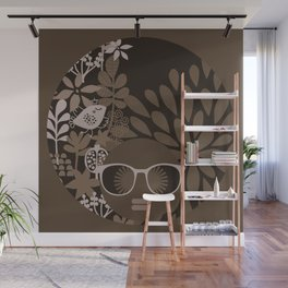 Afro Diva : Brown Sophisticated Lady Wall Mural