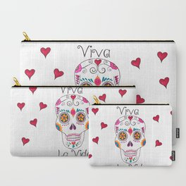 Day of the Dead Mexican Skulls Carry-All Pouch
