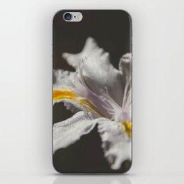 White Iris 4 iPhone Skin