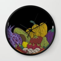 cook Wall Clocks featuring Cook by elvia montemayor
