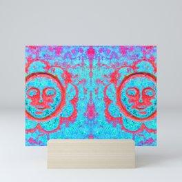 Eternal sunshine (turquoise / red) Mini Art Print