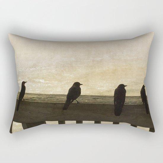Four Blackbirds Rectangular Pillow