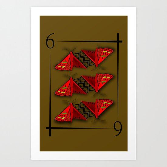 6 of Moths Art Print