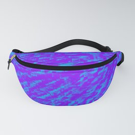 Purple Blue Abstract Fanny Pack
