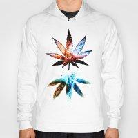 marijuana Hoodies featuring Marijuana Leaf - Design 1 by Spooky Dooky