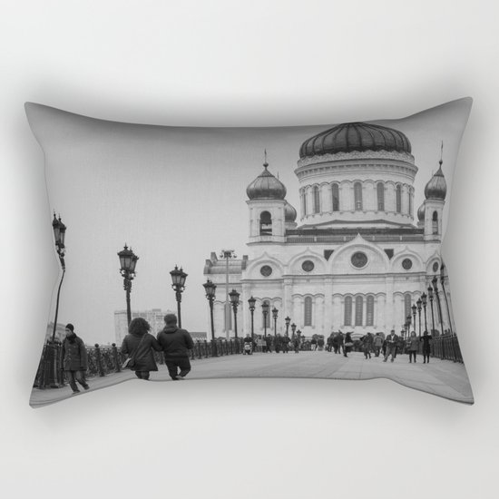 the Cathedral of Christ the Savior in Moscow Rectangular Pillow