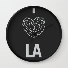"I ""BRAIN"" LA Wall Clock"