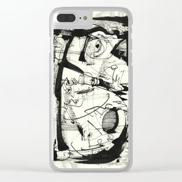 Playing With Birds Clear iPhone Case