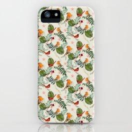 Nature Bird Pattern - Ornithology birding Gift iPhone Case