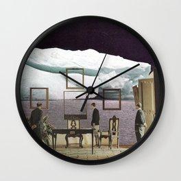 Man looking at ice Wall Clock