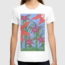 Boho Garden Blues T-shirt