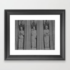 3 Statues Framed Art Print