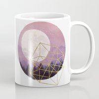 the moon Mugs featuring moon by Laura Graves
