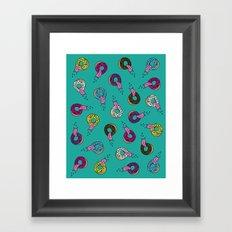 Donut Lickin's Framed Art Print