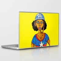 captain Laptop & iPad Skins featuring Captain by N3RDS+INK