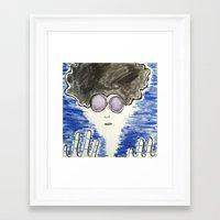 hippie Framed Art Prints featuring Hippie by ArtAngel