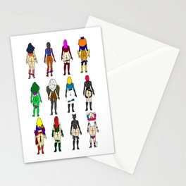 Superhero Butts - Girls - Row Version - Superheroine Stationery Cards