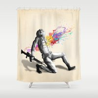 battlefield Shower Curtains featuring Color shot I by Rafapasta