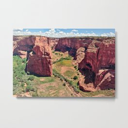 Canyon De Chelly Arizona viewed from the North Rim. Metal Print