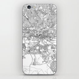 Johannesburg White Map iPhone Skin