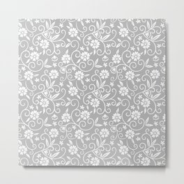 Elegant Wedding Floral Pattern 4 Metal Print