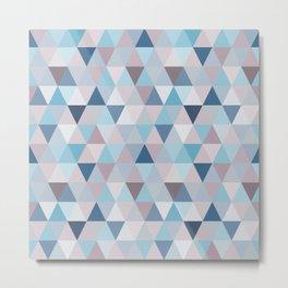 Mauve Blue Small Triangles Metal Print