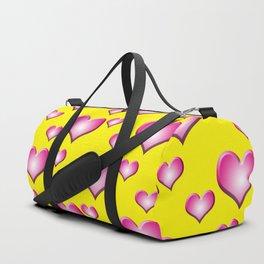 herzen collage Duffle Bag