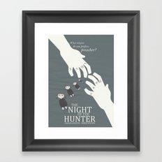 The Night of the Hunter - Movie Poster Framed Art Print