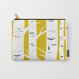 Mustard Birches Carry-All Pouch
