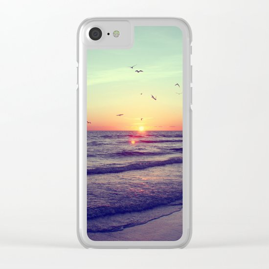 Siesta Key Sunset Clear iPhone Case