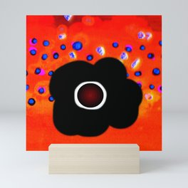 Hole and black flower Mini Art Print