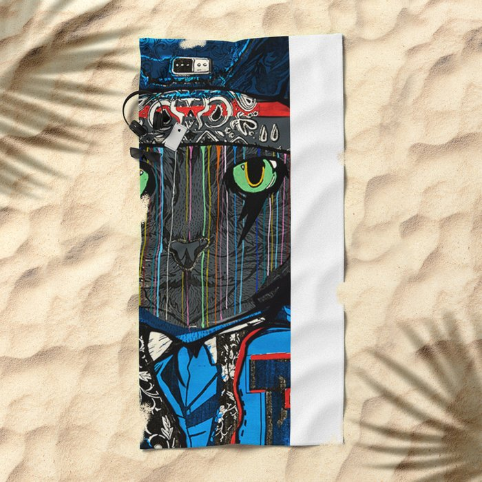 THAI CAT - SCREEN PRINT EDITION Beach Towel