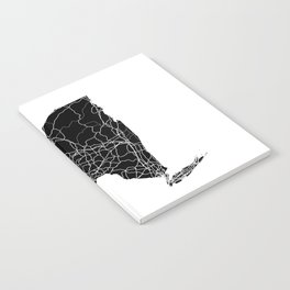 New York Black Map Notebook