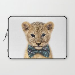 Baby Lion With Bow Tie, Baby Animals Art Print By Synplus Laptop Sleeve