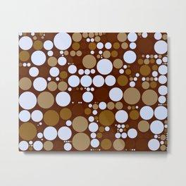 Lots of dots in sepia Metal Print
