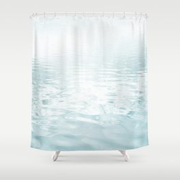 Aqua blue - abstract sea water surface. Shower Curtain