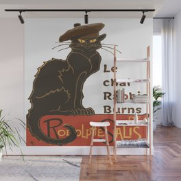 Le Chat Rabbie Burns With Tam OShanter Wall Mural