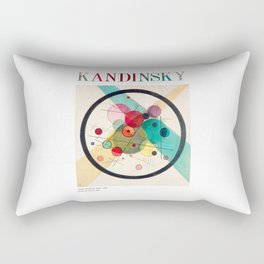 Kandinsky - Circles in a Circle (1923) - Abstract Art Classic - [With Details] Rectangular Pillow