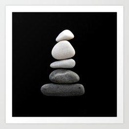balance pebble art Art Print