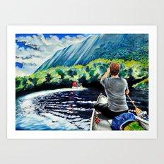 Chris+Canoe+Pilly=YES Art Print