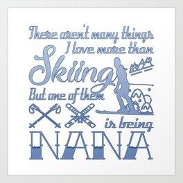 Skiing Nana Art Print