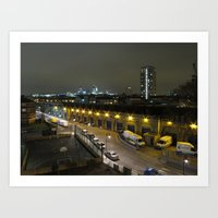 Night-time in London 1 Art Print