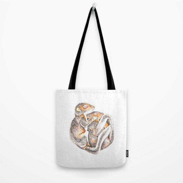 Sleeping Squirrels Tote Bag