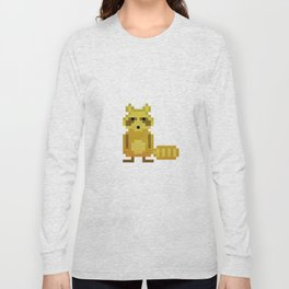 Pixel Racoon Long Sleeve T-shirt