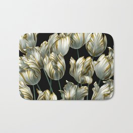 Winter Tulips in Gold. Bath Mat