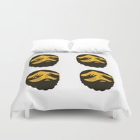 faces Duvet Covers featuring Faces by menulis 0